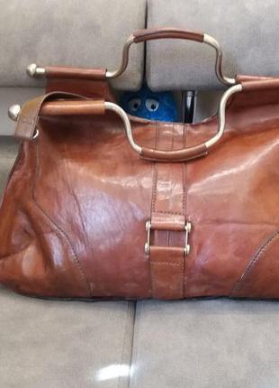 Рыжая сумка кожа винтаж