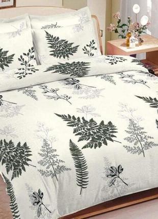 Двуспальный комплект постельного белья лист папоротника