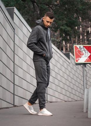 Утеплённый спортивный костюм under armour серый