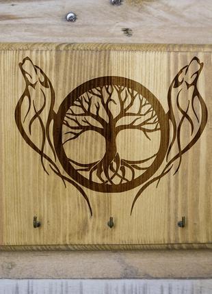 """Настенная ключница """"Дерево жизни"""" 03 из дерева"""