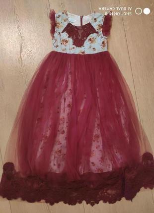 Платье пышное фатин сетка