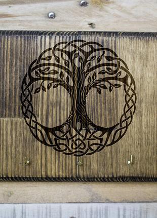 """Настенная ключница """"Дерево жизни"""" 05 из дерева"""