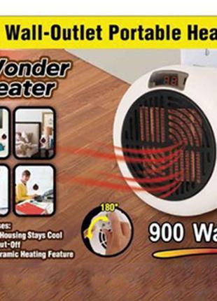 Обогреватель электрический Wonder Heater 900 Вт. с пультом Д/У.