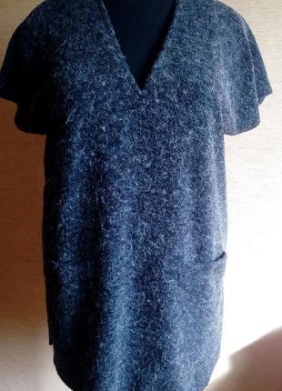Шерстяная туника-жилетка на 54/56 размер