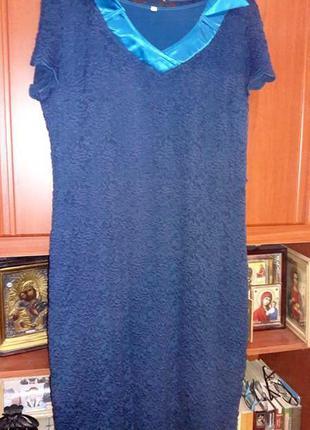 Распродажа! платье гипюр стрейч 56-58 р-р