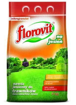 Удобрение осеннее ФЛОРОВИТ (Florovit) ДЛЯ ГАЗОНОВ 3 КГ