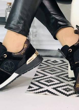 Sale!женские черные кроссовки ботинки кеды