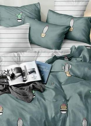 Кактус. постельное белье  из ткани бязь люкс