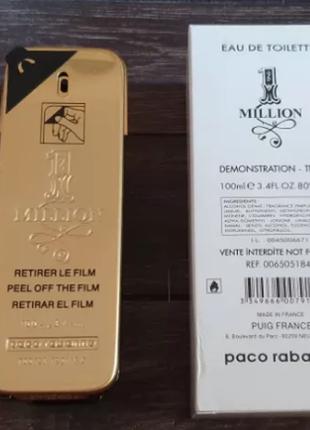 Paco rabanne 1 million , один миллион пако рабане 100 ml тесте...