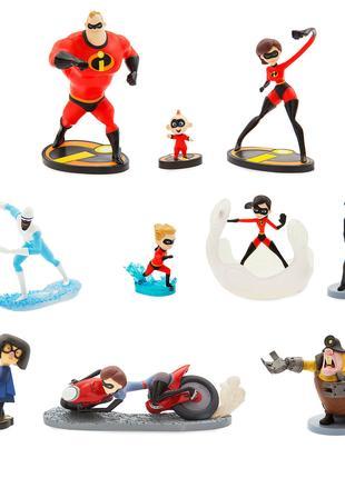 """Большой набор фигурок """"Суперсемейка-2"""" Deluxe Disney Pixar"""