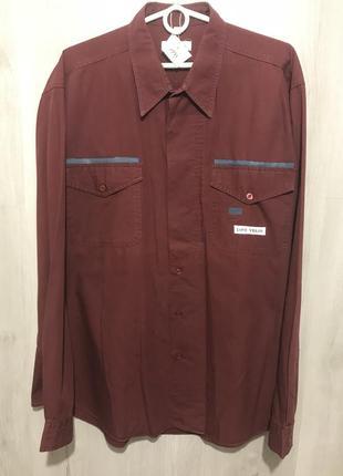 Рубашка мужская lino volio бордовая 031 {xl}