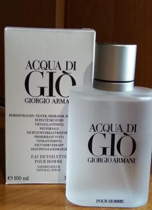 Giorgio armani acqua di gio pour homme туалетная вода, тестер