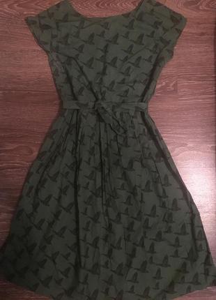Шикарное платье миди в утки