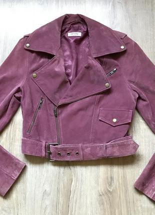 Косуха кожаная куртка замшевая