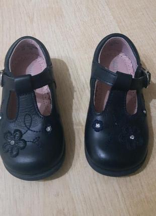 Стильные туфли для девочки start rite 19-20р 4f кожа