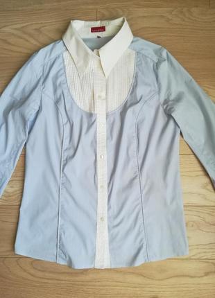 Рубашка в полоску, с длинным рукавом, классика