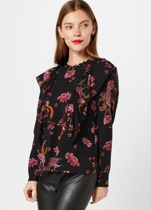 Рубашка блузка цветочный принт с воланами sofie schnoor