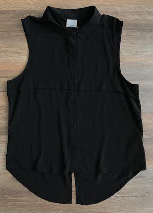 Шифоновая блуза без рукавов рубашка