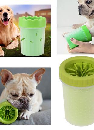 Стакан для мытья лап питомцам Soft Pet Foot Cleaner