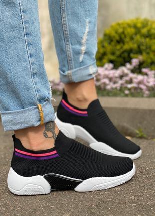 Удобные женские кроссовки обувной текстиль (стрейч) 36,38р