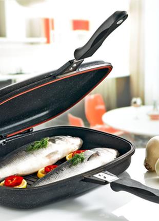 Сковорода двухсторонняя для гриля и жарки A-PLUS 32 см