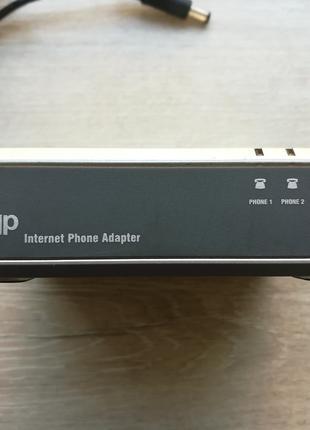 Голосовий VoIP-шлюз Linksys PAP2T + телефон