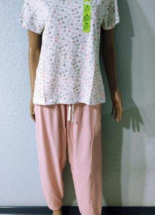 Женская хлопковая пижама, домашний комплект