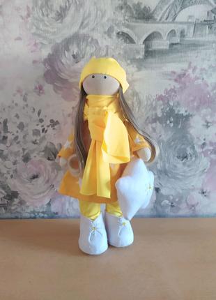 Мягкая интерьерная кукла подарок девочке рождения зима новый год