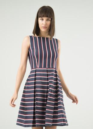 Летнее платье season синее в модную полоску