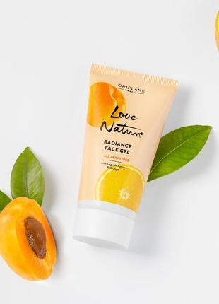 Тонизирующий гель для лица с органическим абрикосом и апельсин...