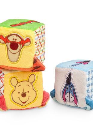 Набор развивающих мягких кубиков Disney Винни Пух (3 шт),  Дисней