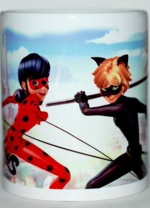 Чашка Леди Баг и Супер-Кот Miraculous Tales of Ladybug and Cat No