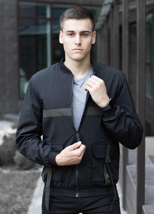 """Куртка pobedov bomber """"3 sentyabrya"""" (black-khaki insert)"""
