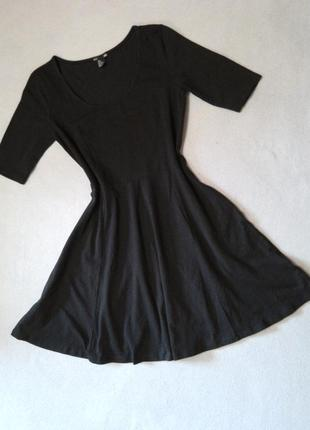 Трикотажное платье солнце h&m