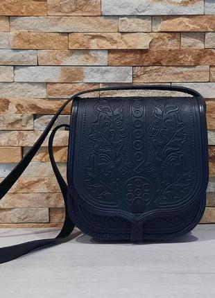 Кожаная женская сумка, сумка с тиснением,  сумка через плечо, ...