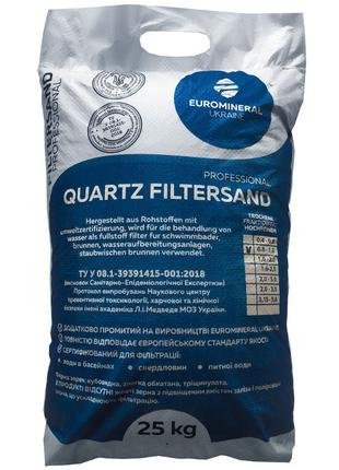Кварцевый песок для фильтрации воды 0.8-1.2 мм