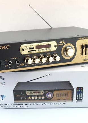 Усилителя звука UKC AV-121BT с караоке и Bluetooth