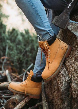 Ботинки тимберленд мужские весна-осень, timberland brown