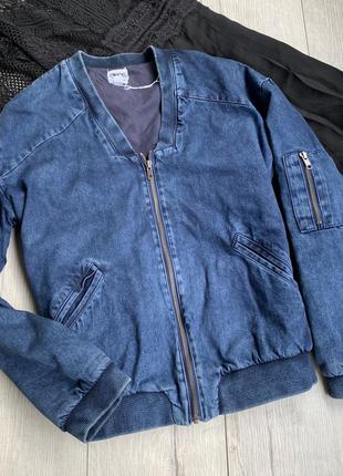 Джинсовая куртка бомбер женская asos