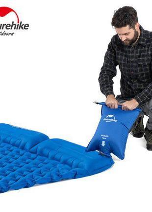 Двойной надувной каремат NatureHike Ultralight с подушками