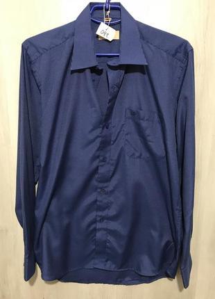 Рубашка мужская l&viktor синяя в полоску 042 (m)