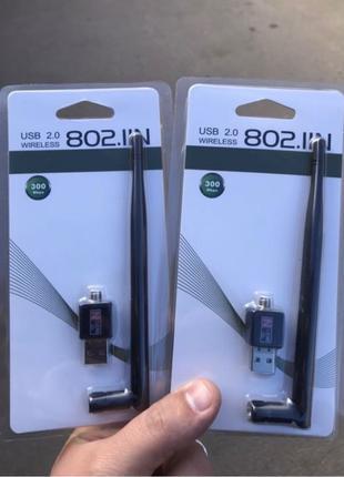 USB WiFi адаптер, передатчик, антена для тюнера T2 и ПК 300 Mbps
