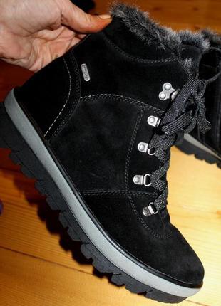 42 разм. зимние ботинки bama - tex. термо. замша на шерсти