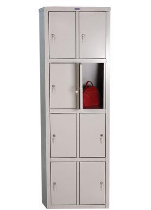 Шкаф металлический 8 ячеек Практик LS-24. Сумочница