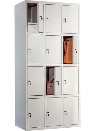 Шкаф металлический 12 ячеек Практик LS-34. Сумочница