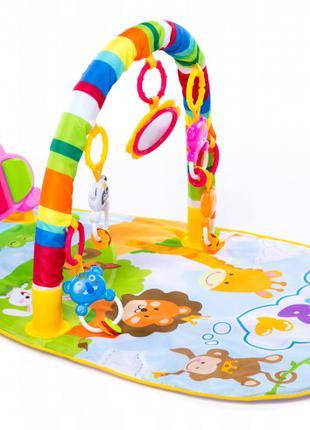 Детский развивающий коврик для младенца HE0612 Веселый Бегемотик