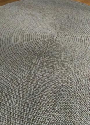 Круглий килим. Джут. Ручна робота. Діаметр 120 см.