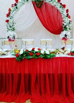 Свадебные цветы как украшение на стол.