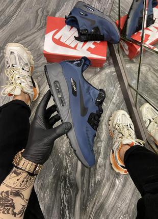 Мужские зимние кроссовки ❄️nike air max 90 mid winter blue❄️