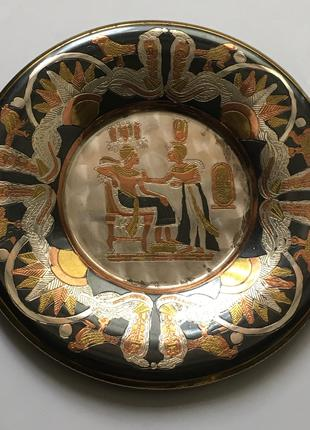 Декоративная медная тарелка Египет. Новая ! Сувенир Подарок